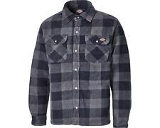Dickies Sh5000 Portland Shirt Polar Fleece Padded Stud Pockets Mens Work Blue M