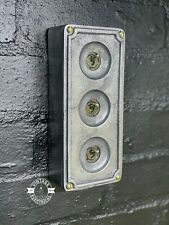 More details for 3 gang solid cast metal light switch industrial 2 way ~ bs en approved