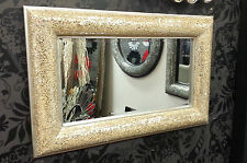 Crackle Bow Design Wall Bevelled Mirror Champagne Frame Mosaic Glass 90x60cm New