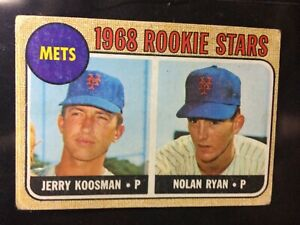 1968 TOPPS baseball card NOLAN RYAN RC #177 Original! True Auction!