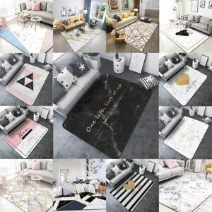 Abstract White Marble Non-slip Livingroom Kitchen Bathroom Floor Mat Rug Carpet