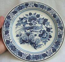 ROYAL GOEDEWAAGEN BLUE DELFT  HAND WORKED PLATE SIGNED JS VOGEL DESIGN 21 cm
