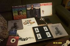 ERIC CLAPTON 6 LP LOT w SLOWHAND, BEHIND THE SUN, JUST ONE NIGHT+ 4 CASS BOX SET