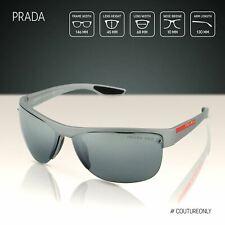 PRADA SPORT Linea Rossa Men Grey Sunglasses SPS-17U-449-9R1 Polarized Lens