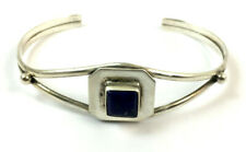 Lazuli Hand Made Bracelet Native American Sterling Silver Lapis
