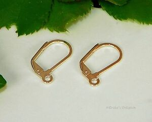 Rose Gold Plated Leverbacks Open Loops 18x11mm 2 Pairs   (ID # B37422)