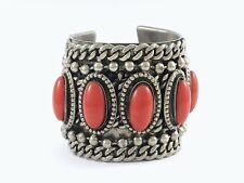 VINTAGE EDOUARD RAMBAUD PARIS HUGE HEAVY CUFF STATEMENT BRACELET 193 GRAMS