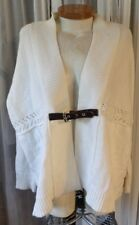 Lady XL Ivory Sweater Woman Michael Kors Cream Belt 14 16 Cardigan 1X Wool Blend