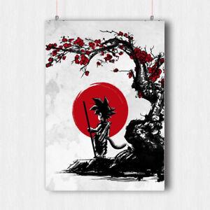 DRAGON BALL Z POSTER ART PRINT IMAGE RED SUN JAPAN MANGA SIZE  A4