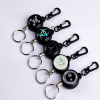 Cool Retractable Pull Chain Reel Card Badge Holder Recoil Belt Metal Key Chain