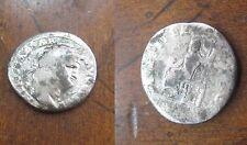 Ancient Roman Empire Silver Denarius, Emperor Nero, Jopiter Reverse (67 A.D.)