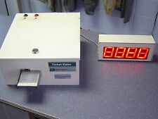 Used Deltronics Dl9000 Table Top Ticket Eater with Large Display. Works Fine.