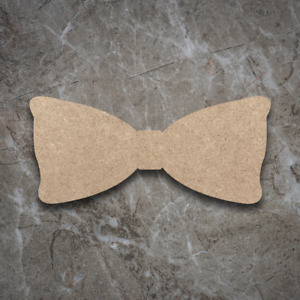 Large MDF Bow Tie Craft Wooden Shape Blank Wood 20 30 40cm Unpainted