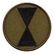 US 7th Infantry Division OD patch Republic of Korea - Ft Ord  Ft Lewis - BAYONET