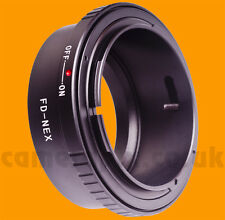 Canon FD lens to Sony NEX E Mount camera Adapter ring NEX-7 C3 5 3 6 Alpha A5000