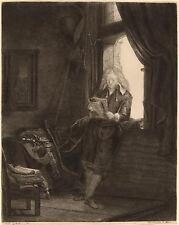 Rembrandt Etching Reproduction: Jan Six, patrician poet: Fine Art Print
