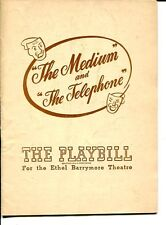 Marilyn Cotlow Gian-Carlo Menotti The Telephone And The Medium 1947 Playbill