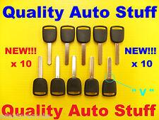 Set Lot of 10 2003-2014 Transponder Chip Key V Blade 35118-SDA-A01 5907553 HO03
