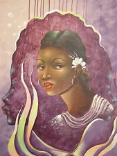 Stunning painting by Late Haitian Master Moab Poliddor