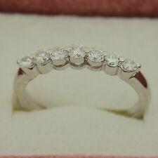 0.36 Ct Round Diamond White Gold Wedding Band 14K Size 6.75