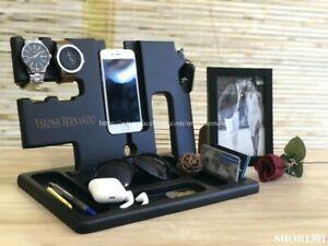 Wooden Premium Mahogany Teak Multi Functional Home Office Table Desk Organizer