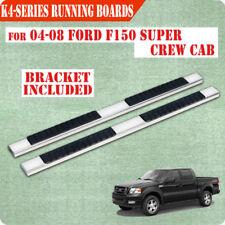 "04-08 FORD F150 Super Crew Cab 4"" Nerf Bar Side Bar Running Board Step Chrome H"