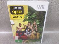 National Geographic Nat Geo Quiz Wildlife Nintendo Wii Game Complete - Oz Seller