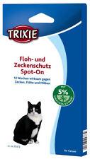 TRIXIE Spot On Floh- und Zeckenschutz für Katzen Milben Zecken Flöhe