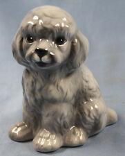 grauer Pudel poodle Keramikfigur Hund hundefigur hundefigur
