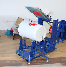 1 Color Manual Cylinder Screen Printing Machine Curved Press Dia 118 135