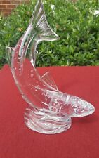 Waterford Crystal Large SALMON Figurine Fish -Excelent condition