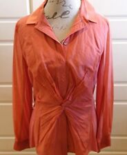 Elie Tahari - Salmon/peach tone button (snap) down top with knot detail