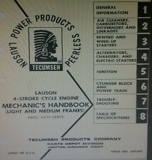 Tecumseh Small-Medium Engine Service Manual Complete Overhaul 230pg REO Lauson