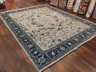 "Genuine Hand Knotted Indo Oushak Heriz Geometric Area Rug Carpet 8'2""x10'6'',49"
