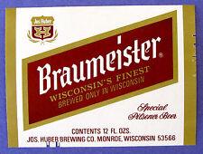 Jos Huber BRAUMEISTER - SPECIAL PILSENER BEER label WI 12oz Var. #1
