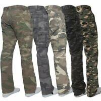 Kruze Militare da Uomo Pantaloni Stile Camouflage Cargo Mimetico Casual, Lavoro