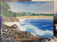 Art Original Oil painting  Noosa beach at national park 50 x 70cm.