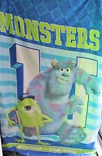 DISNEY PIXAR MONSTERS INC S/BED QUILT DOONA COVER ONLY BOYS GREEN BLUE EX RP$50+