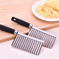 Potato Wavy Cutter Chopper Stainless Steel Vegetable Fruit Slicer Kitchen Tools