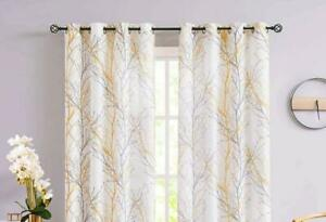 100% Cotton Set of 2 Curtains  Bedroom and Living Room FS