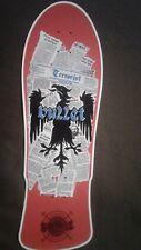 "Santa Cruz Bullet replica Skateboard Deck Shaped Sticker over 7"""