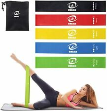New listing Resistance Loop Exercise Bands with Instruction Guide, Natural Latex Bands