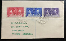 1938 Gilbert & Ellice Islands King George VI Coronation Cover KG6 To Australia