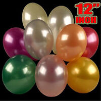 20 Large Latex Pearlised Birthday Wedding Party Baloons Ballons Balloons
