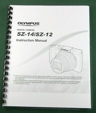 Olympus SZ-14 SZ-12 Instruction Manual: Comb Bound with Protective Covers!