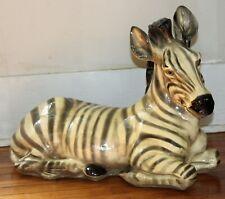 "Zebra Statue Sculpture Large Figurine 21+"" Wildlife Animal Vintage"