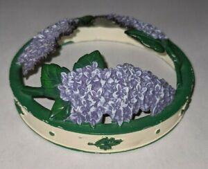 Yankee candle illuma lid Jar Candle topper Purple flowers Lilac 1139787 Lilacs