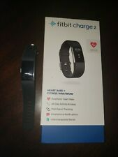 Fitbit Charge 2 FB407SBKL Activity Tracker, Large - Black