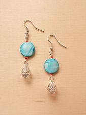 Maritime Spiral Ohrringe mit Perlmutt Perlen ♥ Fernweh ♥ Handgefertigter Schmuck