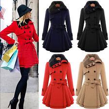 Plus Size Womens Winter Long Outwear Warm Jacket Slim Coat Windbreaker Overcoat